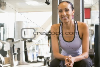 Portrait Of Woman At Gym