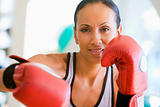 Woman Boxing At Gym