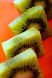 Rectangular kiwi slices