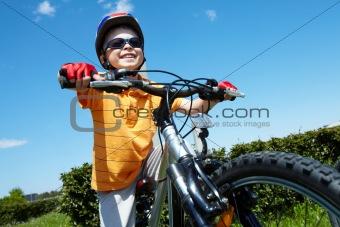 Little bicyclist