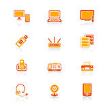 Office electronics icons | JUICY series