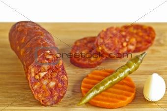sausage Kolbasz of Hungary