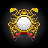 oat of arms. Golf symbol