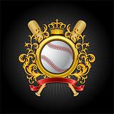 Сoat of arms. Baseball symbol