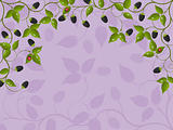 Floral background with blackberry