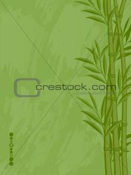 Abstract floral background with a bamboo