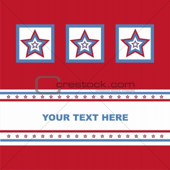 american colored stars card