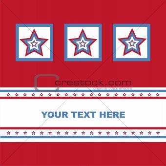 american colored stars card
