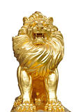 Isolated lion statue