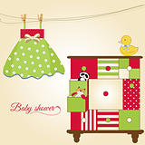 new baby greeting card with nice closed