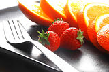 orange & strawberries