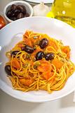 spaghetti pasta puttanesca