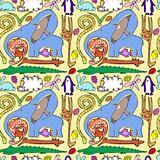 seamless animal pattern. Vector illustration