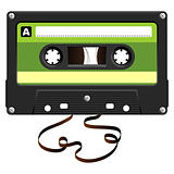Audio Cassette with damaged tape
