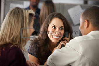 Excited Woman on Phone