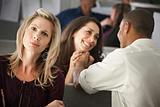 Woman Envying Coworkers