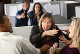 Women Coworkers Quarreling 