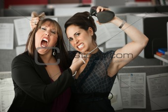 Women Employees Quarreling