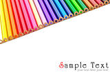 Color pencils background isolated