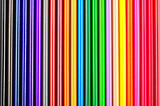 closeup of color pencils colorful gradient