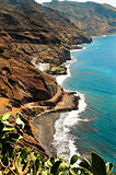 Gaviotas Beach in Tenerife, Canary Islands, Spain