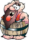 Hand-drawn Vector illustration of an Barrel Man
