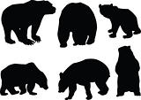 bears collection silhouette