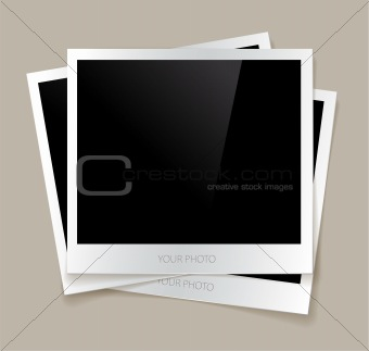 Empty photos vector illustration