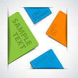 vector colorful paper cards with place for your text