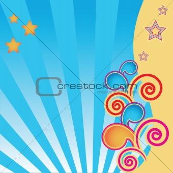 abstract background with stars and swirls