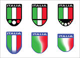 Italian tricolor emblems