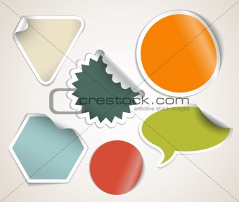 Retro colored labels badges and stickers
