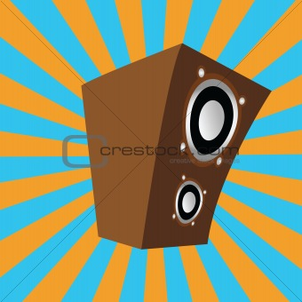 cartoon style speaker