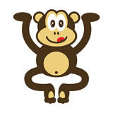 cute monkey drawing