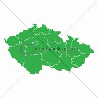 Czech Republic map green ecological