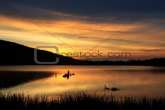 Sunrise at Locust Lake