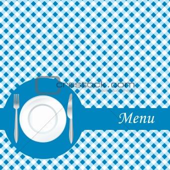 Blue restaurant menu