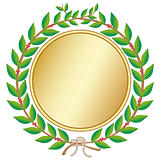Laurel wreath with medal