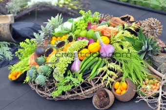 assortment healthy vegetables in basket