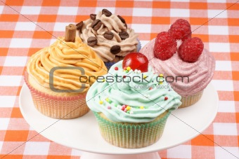 Assortment of fancy cupcakes