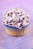 Fancy light purple cupcake