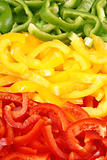 Green, red and yellow bell-pepper background