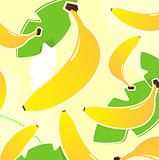 Banana: Fresh tropical fruit texture or pattern