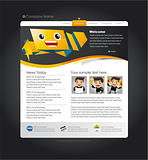 Speech Web site design template, vector