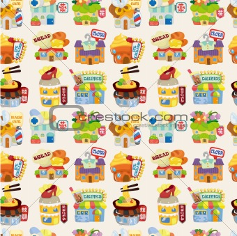 cartoon shop ,seamless pattern,vector