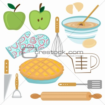 Apple pie preparation