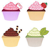 Sweet colorful cupcakes