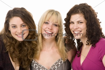 Portrait Of Three Women Smiling