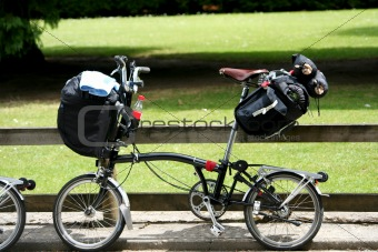 Folding bike with luggage