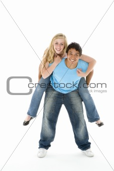 Portrait Of Teenage Couple